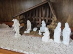 Middle of the nativity set up.