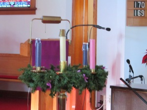 Church Advent wreath