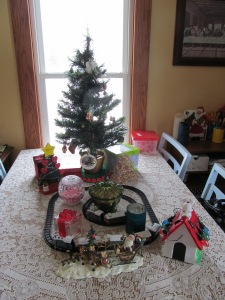 Advent tree and train sets, rearranged.