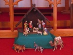 Our nativity set in front of the altar.