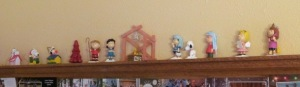 Peanuts gang as Nativity figurines and a few extras.