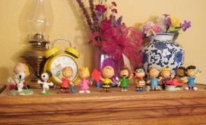 More Peanuts figurines.