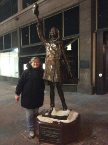Me with Mary's statue