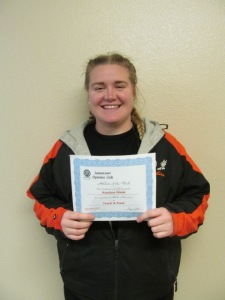 Paulina was the UJ female athlete of the week in early January